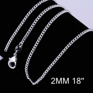 Curb Silver Plated Chain