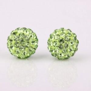 Gina Shamballa Earrings Green