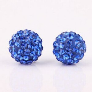Shamballa Jona Blue Stud Earrings