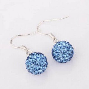 Shamballa Jona Blue Dangling Earrings