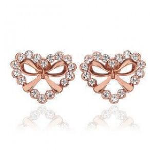 Katelyn Ribbon Heart Earrings