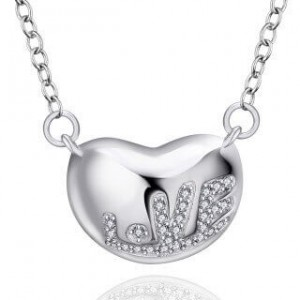 Lavinia Love Silver Plated Necklace