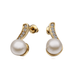 Musika Pearl Gold Plated Earrings
