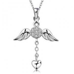 Myrtle Wings Silver Plated Necklace