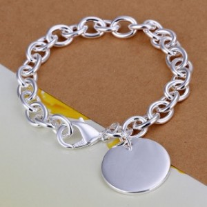 Noreen Charm Silver Plated Bracelet