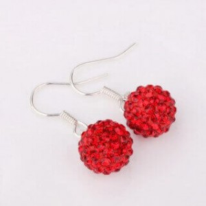 Remy Shamballa Dangling Earrings