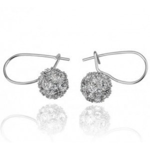 Snow Ball Stone Studded Earrings