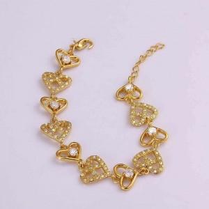 Laverne Chain of Hearts  Bracelet