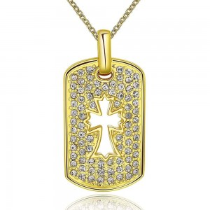 Constantine Cross 18K Gold Plated Necklace