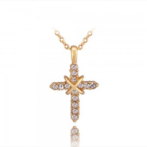 Jamie Elegant Cross 18K Gold Plated Necklace