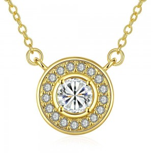 Royal Diamond 18K Gold Plated Necklace