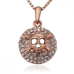 Avril Skull Rose Gold Plated  Necklace