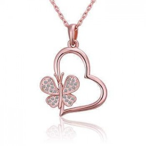 Ingrid Butterfly Heart Necklace