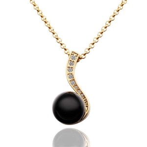 Mariah Black Pearl 18K Gold Plated Necklace