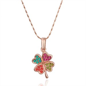 Thea Multi-Colored Rose 18K Plated Necklace