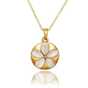 Yvonne Gold Palted Flower Necklace