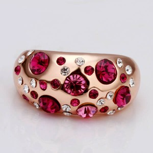 Czech Pink Stone Ring