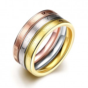 Tribeca Triple Tone Rings