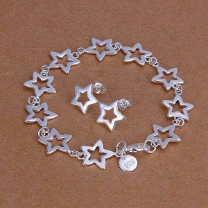 Darlene Star Bracelet and Earrings Set