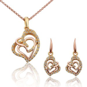 Glaiza 18K Gold and Rose Gold Plated Dual-Tone Set