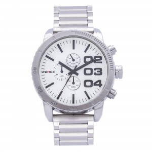 Spencer Stainless Steel Metal Watch (White Face) by Weide