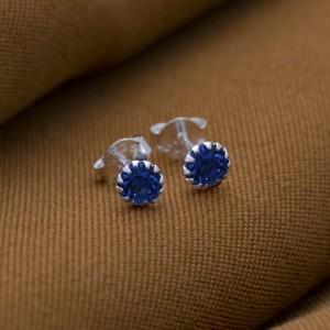 Sapphire Birthstone for September 925 Silver Earrings