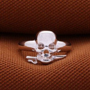 Brooke Skull 925 Silver Ring for Men