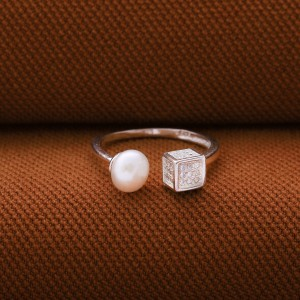 Colette Pearl & Stone Studded Dice Ring by Argento