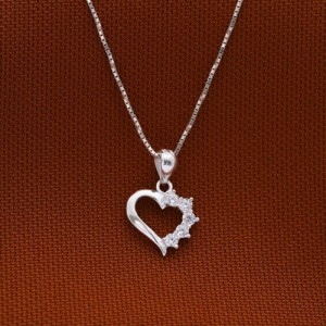 Erin Ragged Heart Necklace