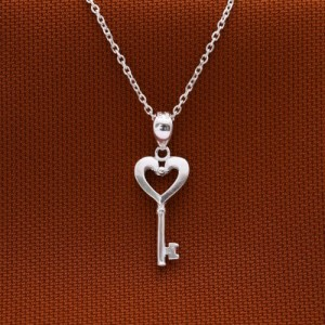 Heidi Heart-Shaped Key Necklace