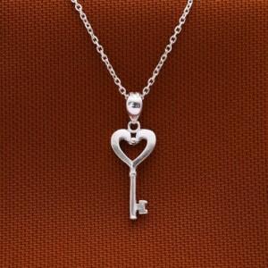Heidi Heart-Shaped Key Necklace