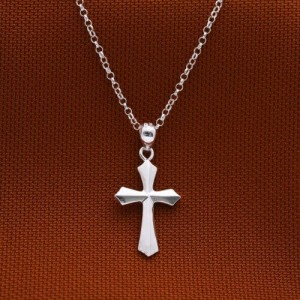 Jonah Plain Cross Necklace