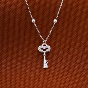 Kaesha Key Necklace 925 Silver by Argento