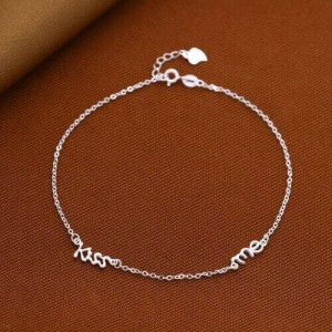 Kiss Me 925 Silver Anklet by Argento