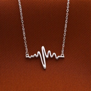 Life Line 925 Silver Necklace by Argento