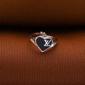 Louise Black Heart Ring for Kids