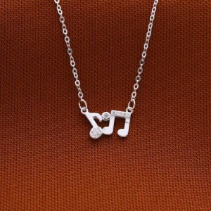 Lyra Musical Note Design Necklace by Argento 925 Silver
