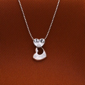 Mikasa Heart 925 Silver Necklace 3.6g