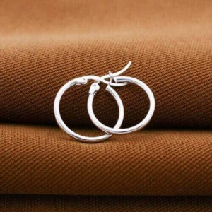Nina 925 Silver Round Earrings #18 by Argento..