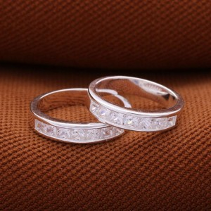 Soulmates 7 Stone Couple Ring