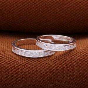Soulmate 12 Stone Couple Ring
