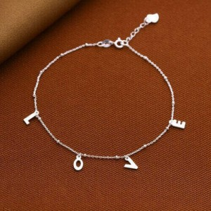 Love Spell 925 Sterling Silver Anklet by Argento