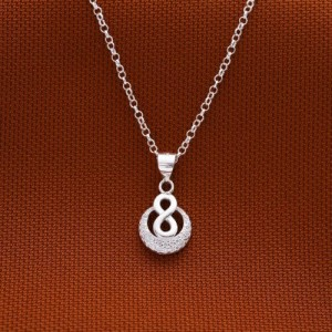Talia Infinity Moon Necklace