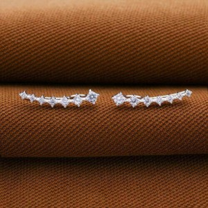 Tatiana 925 Silver Hook Earrings