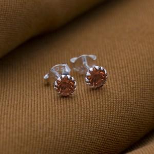 Topaz Birthstone for November 925 Silver Earrings