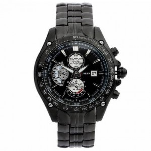 Victor Sports Black Stainless Steel Watch (Black Face) by Curren