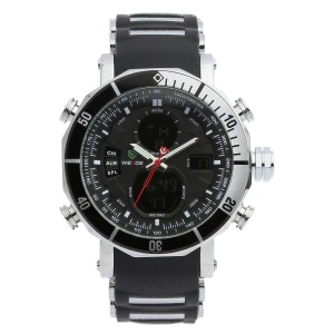 Zoro Silicone Watch by Weide (Black)