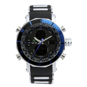 Zoro Silicone Watch by Weide (Blue)