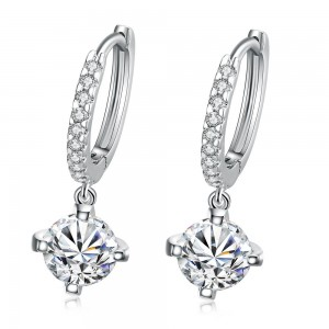 Alina White Gold Plated Dangling Earrings