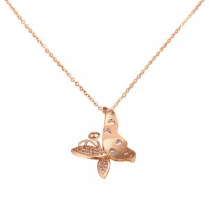 Alisha 18K Rose Gold Necklace